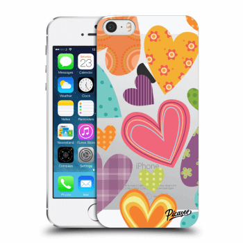 Obal pre Apple iPhone 5/5S/SE - Colored heart