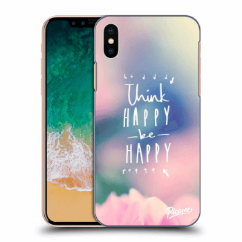 Obal pre Apple iPhone X/XS - Think happy be happy