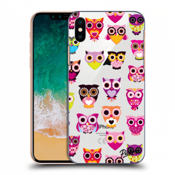 Obal pre Apple iPhone X/XS - Owls