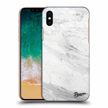 Obal pre Apple iPhone X/XS - White marble