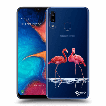 Obal pre Samsung Galaxy A20e A202F - Flamingos couple