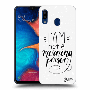 Obal pre Samsung Galaxy A20e A202F - I am not a morning person