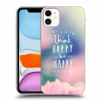Obal pre Apple iPhone 11 - Think happy be happy