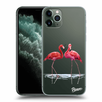 Obal pre Apple iPhone 11 Pro - Flamingos couple