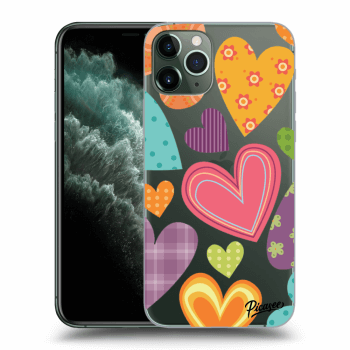 Obal pre Apple iPhone 11 Pro - Colored heart
