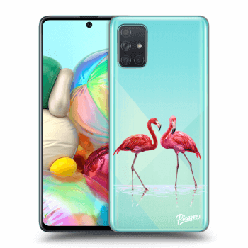 Obal pre Samsung Galaxy A71 A715F - Flamingos couple