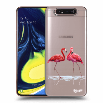 Obal pre Samsung Galaxy A80 A805F - Flamingos couple