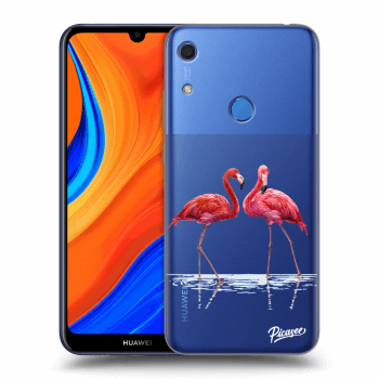 Obal pre Huawei Y6S - Flamingos couple