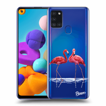 Obal pre Samsung Galaxy A21s - Flamingos couple