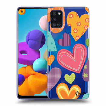 Obal pre Samsung Galaxy A21s - Colored heart