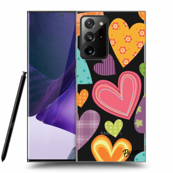 Obal pre Samsung Galaxy Note20 Ultra - Colored heart