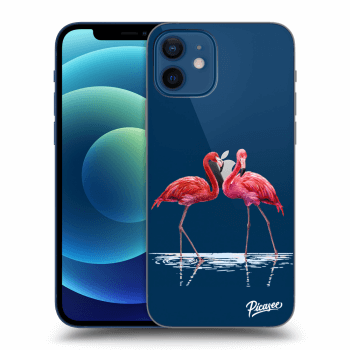 Obal pre Apple iPhone 12 - Flamingos couple