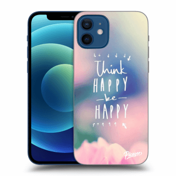 Obal pre Apple iPhone 12 - Think happy be happy
