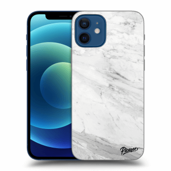 Obal pre Apple iPhone 12 - White marble