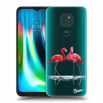 Obal pre Motorola Moto G9 Play - Flamingos couple