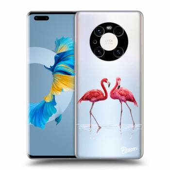 Obal pre Huawei Mate 40 Pro - Flamingos couple