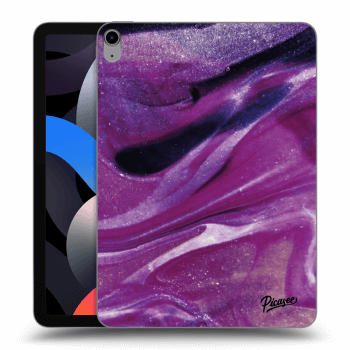 Obal pre Apple iPad Air 4 (2020) - Purple glitter