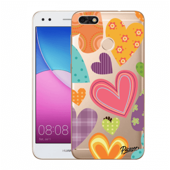 Obal pre Huawei P9 Lite Mini - Colored heart