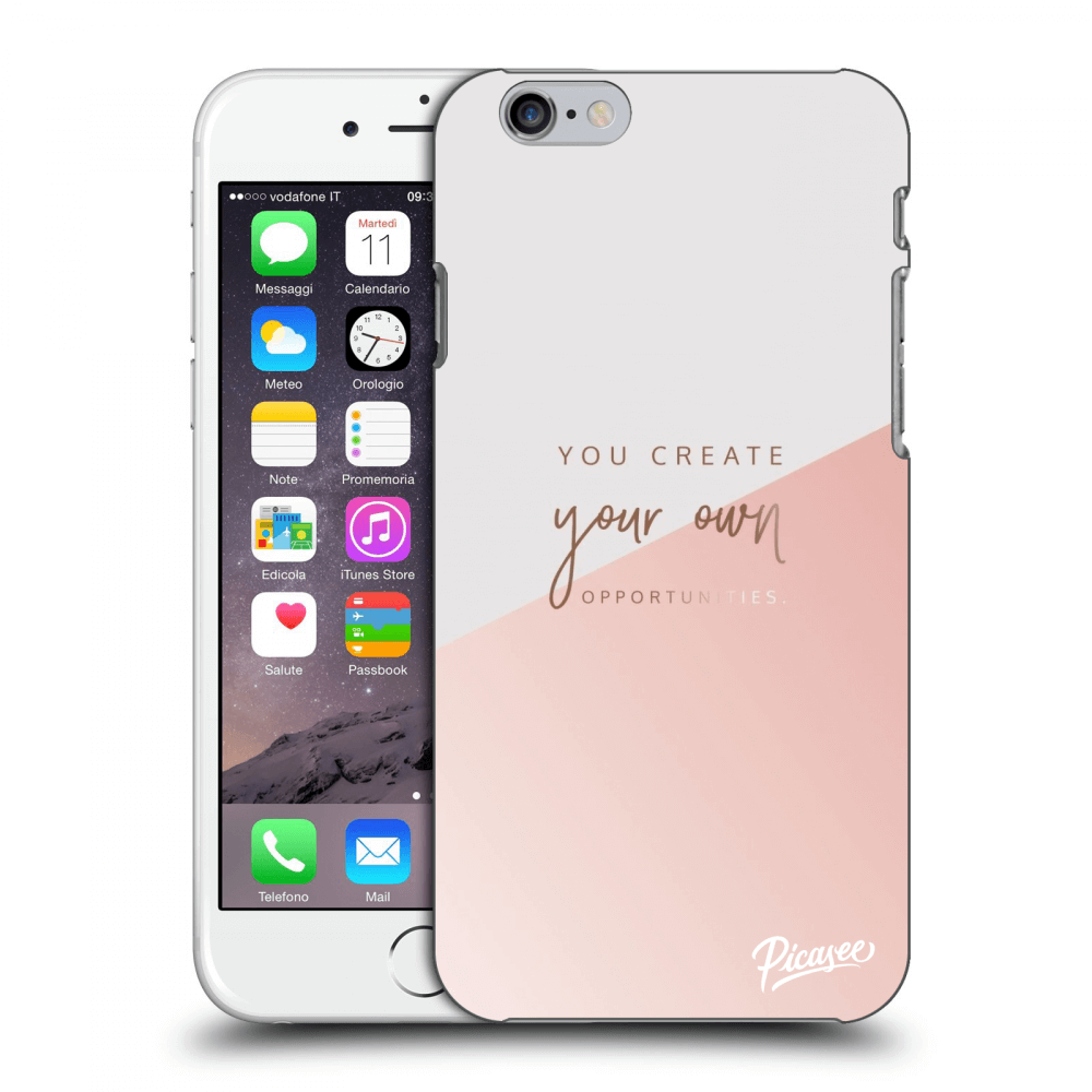 Picasee silikónový prehľadný obal pre Apple iPhone 6/6S - You create your own opportunities