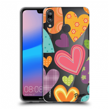 Obal pre Huawei P20 Lite - Colored heart