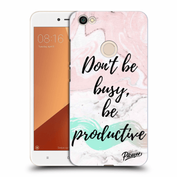 Obal pre Xiaomi Redmi Note 5A Global - Don't be busy, be productive