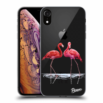 Obal pre Apple iPhone XR - Flamingos couple