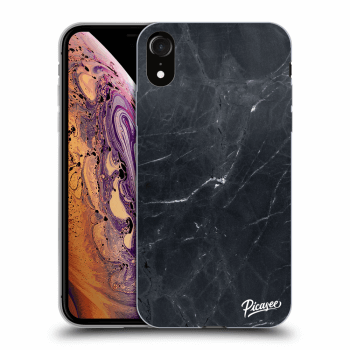 Obal pre Apple iPhone XR - Black marble