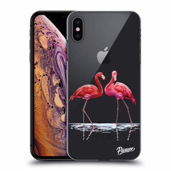Obal pre Apple iPhone XS Max - Flamingos couple