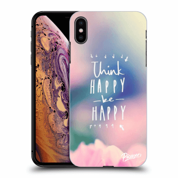Obal pre Apple iPhone XS Max - Think happy be happy