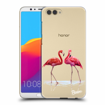 Obal pre Honor View 10 - Flamingos couple