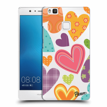 Obal pre Huawei P9 Lite - Colored heart