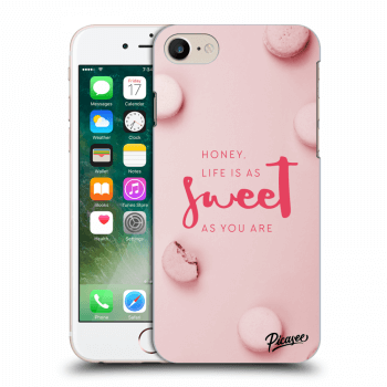 Picasee silikónový prehľadný obal pre Apple iPhone 7 - Life is as sweet as you are