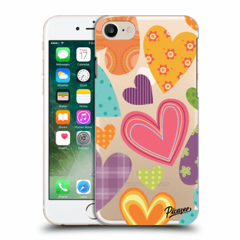 Obal pre Apple iPhone 7 - Colored heart
