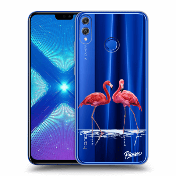 Obal pre Honor 8X - Flamingos couple