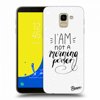 Obal pre Samsung Galaxy J6 J600F - I am not a morning person