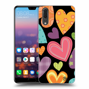 Obal pre Huawei P20 - Colored heart