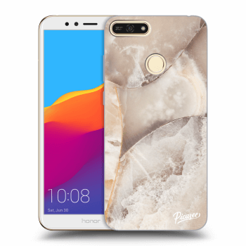 Obal pre Honor 7A - Cream marble