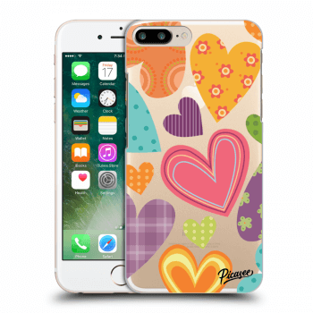 Obal pre Apple iPhone 7 Plus - Colored heart