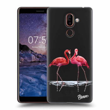 Obal pre Nokia 7 Plus - Flamingos couple