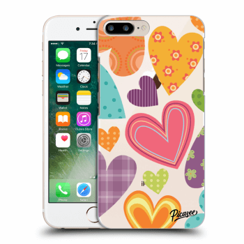 Obal pre Apple iPhone 8 Plus - Colored heart