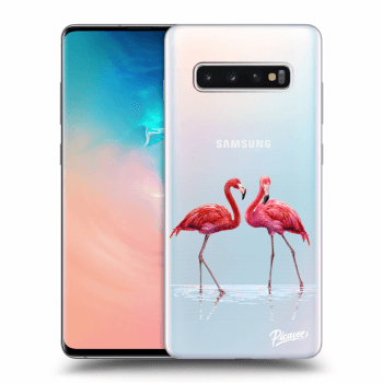 Obal pre Samsung Galaxy S10 Plus G975 - Flamingos couple