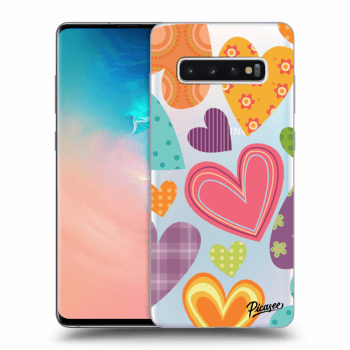 Obal pre Samsung Galaxy S10 Plus G975 - Colored heart