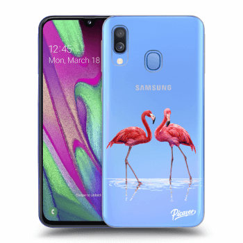 Obal pre Samsung Galaxy A40 A405F - Flamingos couple