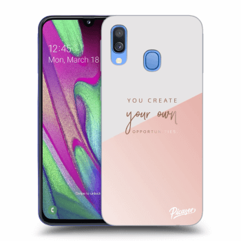 Obal pre Samsung Galaxy A40 A405F - You create your own opportunities